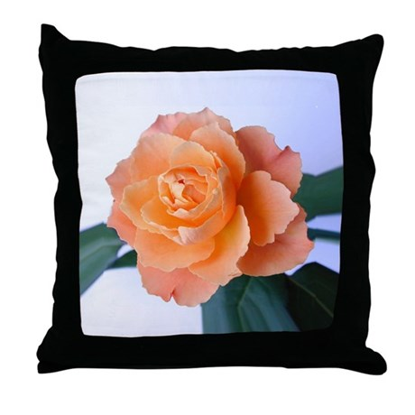 Orange Rose Throw Pillow