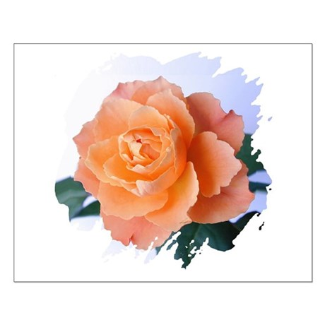 Orange Rose Small Poster