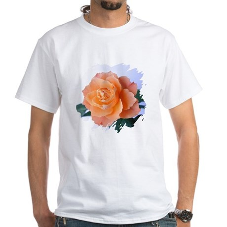 Orange Rose White T-Shirt