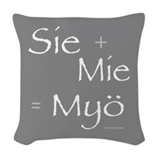 You + I = We In Finnish Woven Throw Pillow