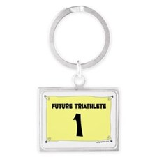 triathlete Landscape Keychain