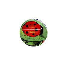 Lady bug framed panel Mini Button