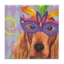 Party Irish Setter Tile Coaster