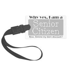 Darn Senior Luggage Tag