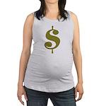 Dollar Sign Maternity Tank Top