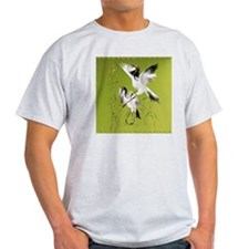 Two Cranes In Bamboo_pillow T-Shirt