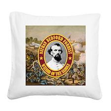 Forrest (battle)cafe mouse Square Canvas Pillow