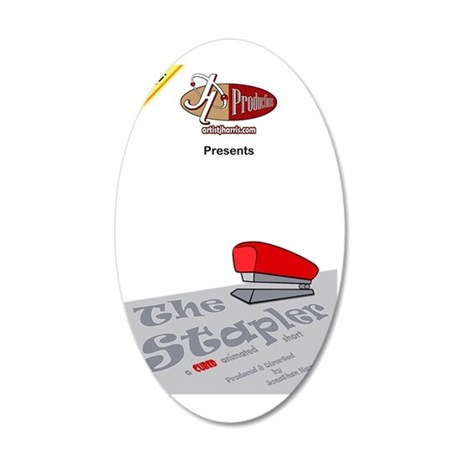 The Stapler Poster Small 35x21 Oval Wall Decal