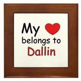 My heart belongs to dallin Framed Tile