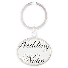 Wedding Notes 5x8 Oval Keychain