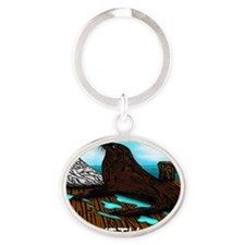 SEAL WITH A KISS cap Oval Keychain
