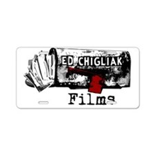 ecfilms-4white Aluminum License Plate