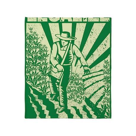 Legalize Propaganda Farmer Throw Blanket