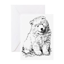 Samoyed Puppy Greeting Card