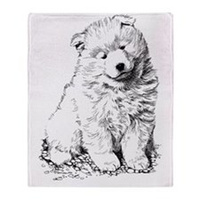 Samoyed Puppy Throw Blanket