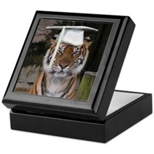 Tiger Graduation Keepsake Box