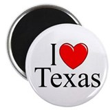 """I Love Texas"" Magnet"