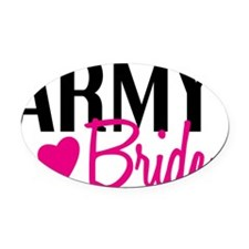 army_bride Oval Car Magnet