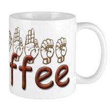 Coffee Coffee Mug in ASL Coffee Mug