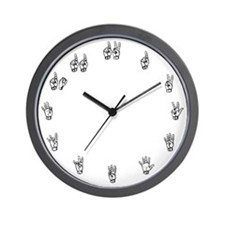 Sign Language Wall Clock