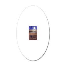 SILENT NIGHT SEA TURTLE CHRI 20x12 Oval Wall Decal