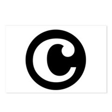 "black and white ""c"" Postcards (Package of 8)"