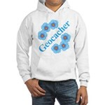 Geocacher Blue Flowers Hooded Sweatshirt