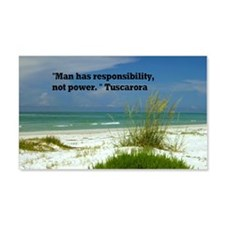 Man has responsibility10x14 Wall Decal