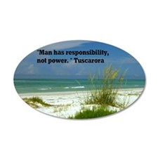 Man has responsibility9x12 Wall Decal