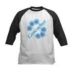 Geocacher Blue Flowers Kids Baseball Jersey