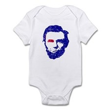 Abe Lincoln Red/White/Blue Infant Bodysuit