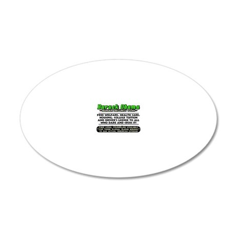 OBSECURITY 20x12 Oval Wall Decal