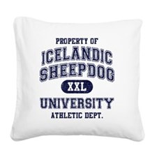 Icelandic-Sheepdog-University Square Canvas Pillow