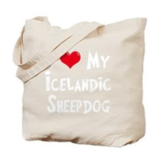 I-Love-My-Icelandic-Sheepdog-dark Tote Bag
