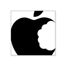 "apple logo Square Sticker 3"" x 3"""