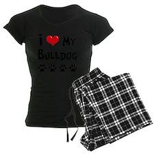 I-Love-My-Bulldog Pajamas