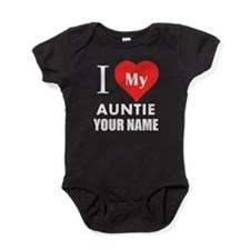 I Heart My Auntie (Custom) Baby Bodysuit