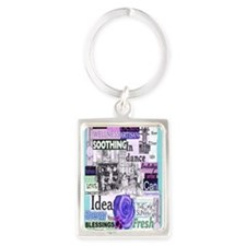 showyourlight5x8aqua Portrait Keychain