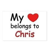 My heart belongs to chris Postcards (Package of 8)