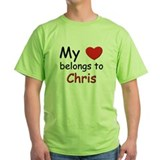 My heart belongs to chris T-Shirt