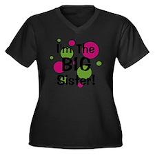 imthebigsist Women's Plus Size Dark V-Neck T-Shirt