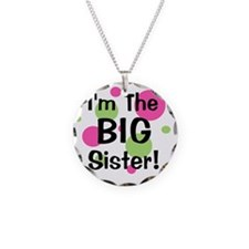 imthebigsister_greenpinkcirc Necklace