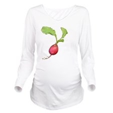 Radish Long Sleeve Maternity T-Shirt