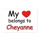 My heart belongs to cheyanne Postcards (Package of