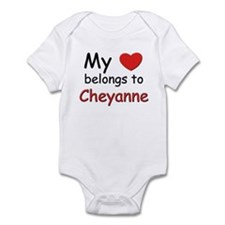 My heart belongs to cheyanne Infant Bodysuit