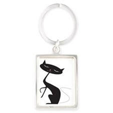 Kitty kitty kitty Portrait Keychain