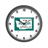 Welcome to Washington - USA Wall Clock