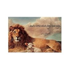 greeting card and little child Rectangle Magnet