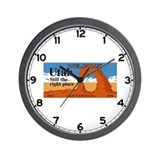 Welcome to Utah - USA Wall Clock