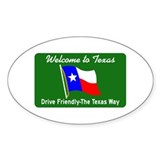 Welcome to Texas - USA Oval Decal